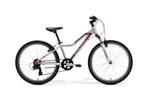 "ROWER MERIDA M-BIKE JUNIOR 24"" GIRL 12"" SILVER-BLACK-PINK 2020"